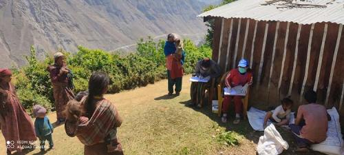MCHN team teaching mothers of new born child importance of nutritious food in Kalai HPs Soru Rural Municipality-9 Mugu
